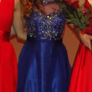 Royal Blue floor length gown